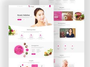 beauty-website-layout